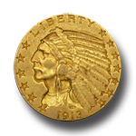 Gold 5$ Indian Head