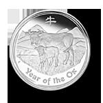 Lunar 2 Ochse 1kg Münze