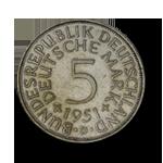 Silber 5 deutsche Mark