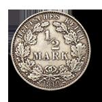 Deutsches Kaiserreich 0,5 Mark